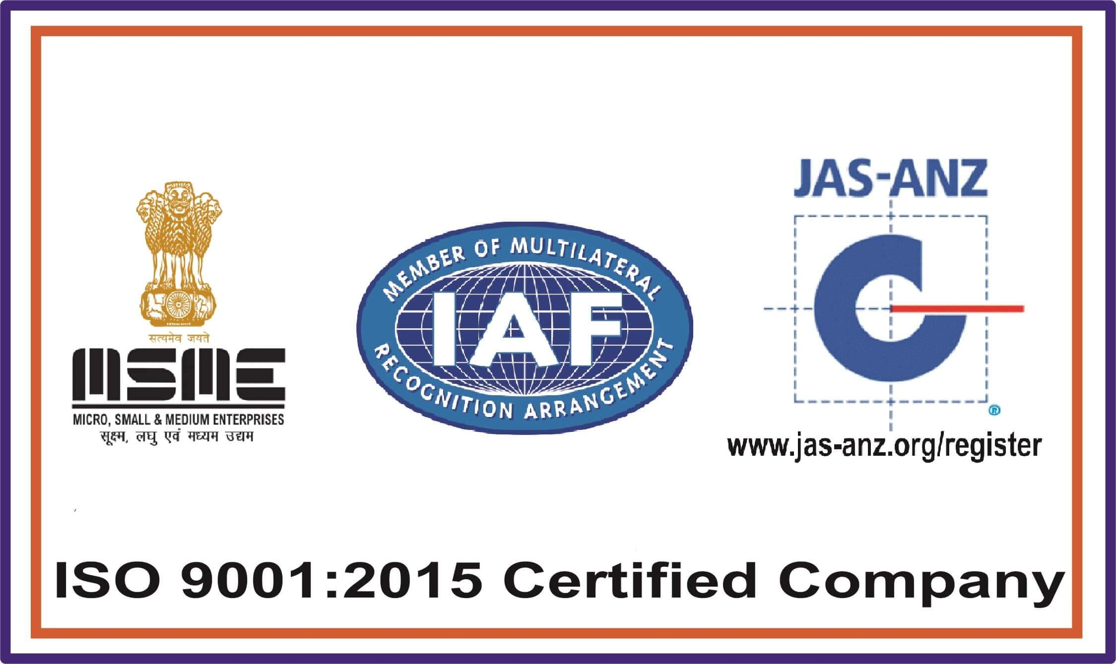 IAS ISO certified